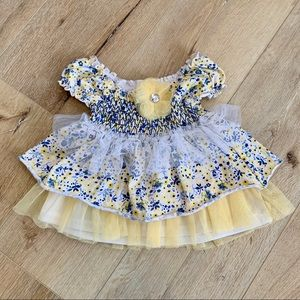 Floral blue and yellow dress